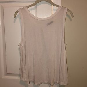 Brandy Melville white open back tank top